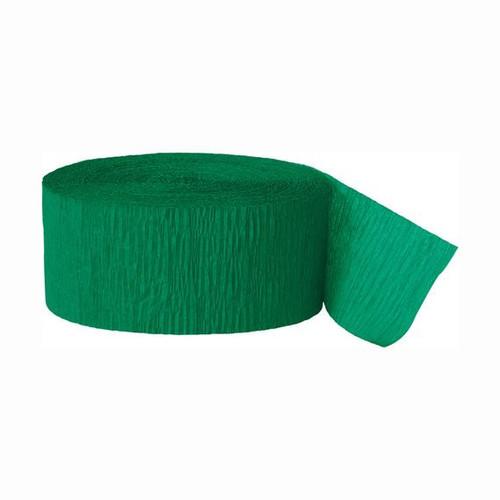 Emerald Green Crepe Streamer - 81 Ft