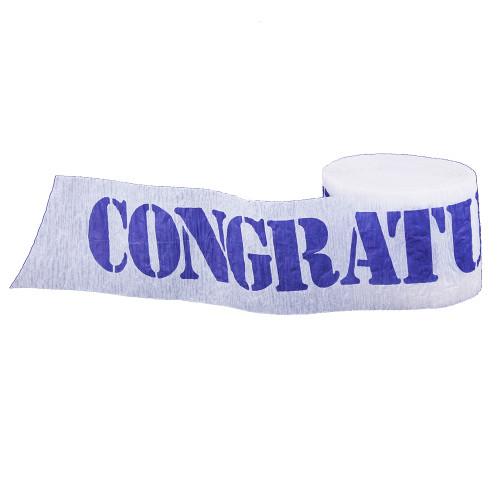 Congratulations Printed Crepe Streamer - 30 Ft