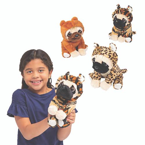 "7"" Jungle Stuffed Pugs"