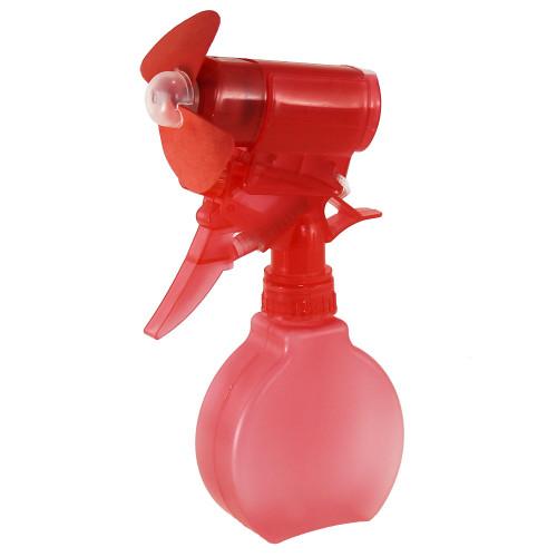 Water Mist Spray Fan Bottle Red