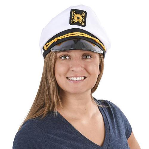 White Captain Hat