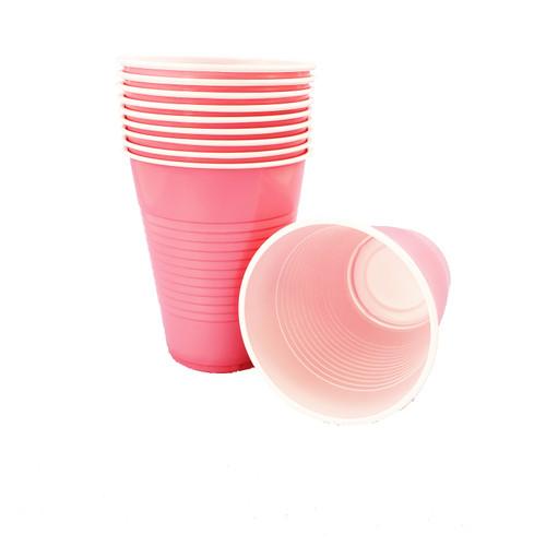 Pink Plastic Cups, 16oz, 10ct