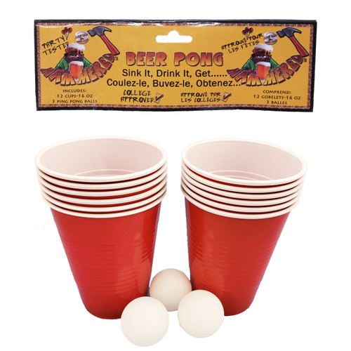 Red Beer Pong Game Set