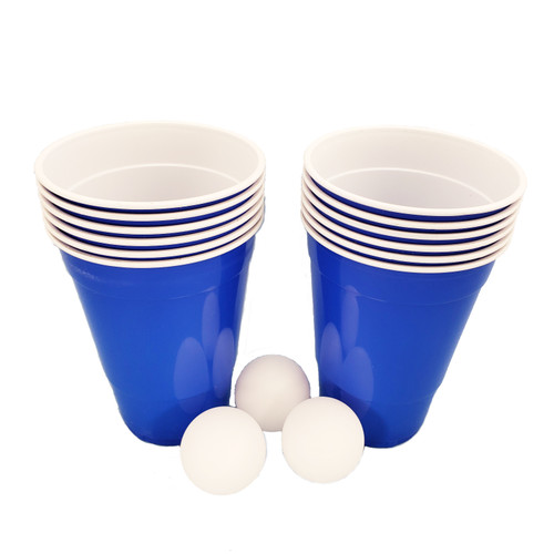 Beer Pong Game Set -Blue