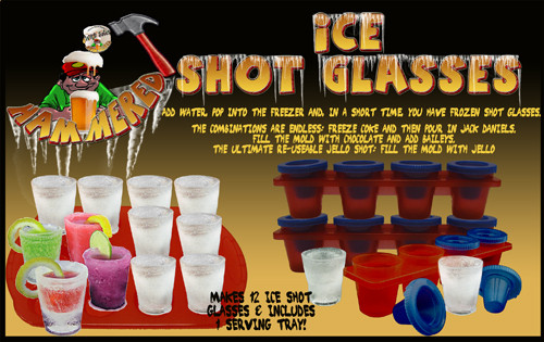 Ice Shot Glasses with Tray