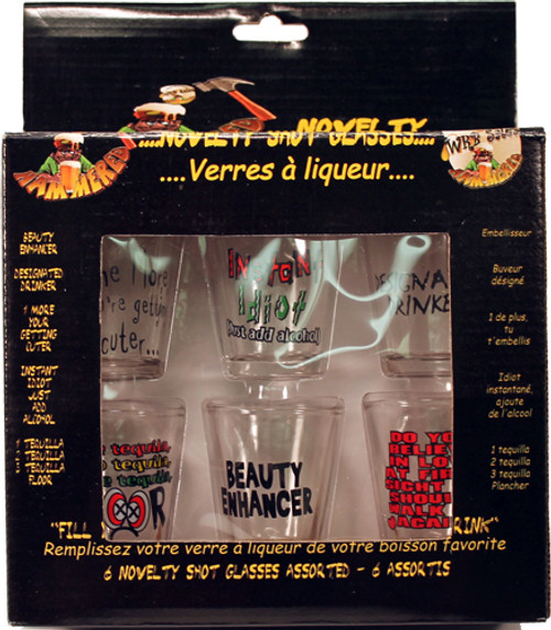 Novelty Shot Glasses 6PK