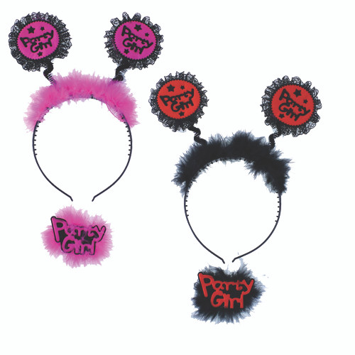 Party Girl Headband with Badge 2PC
