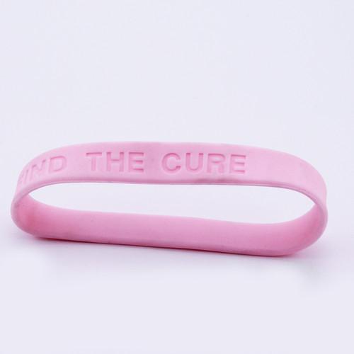 Breast Cancer Awareness  Rubber Bracelets