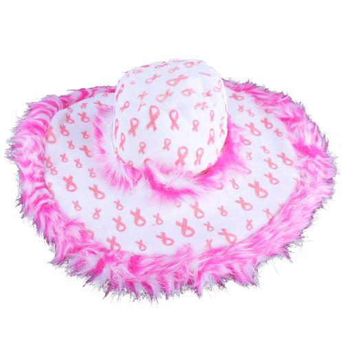 Pink Ribbon Fancy Party Hat