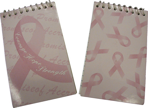 Pink Ribbon Notepads 6PK