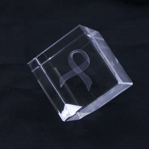 Laser Ribbon Glass Decoration