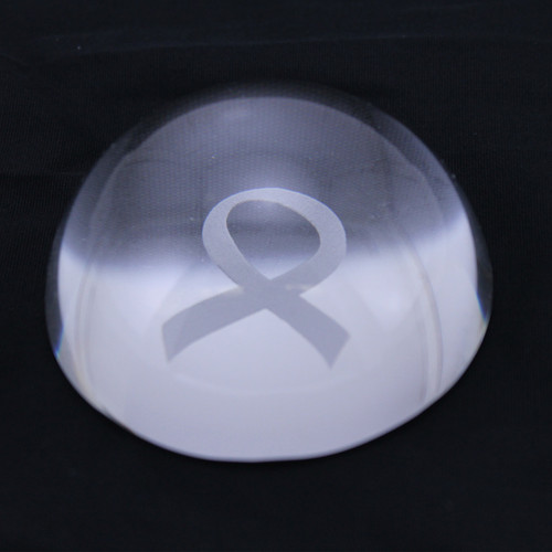Laser Ribbon Glass Paper Weight