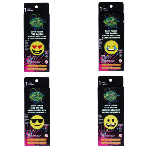 Glow Funny Face Badge