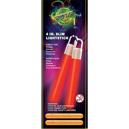 "Red Glow Stick 4"" - 2 PK"