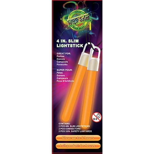 "Orange Glow Stick 4"" 2 PK"