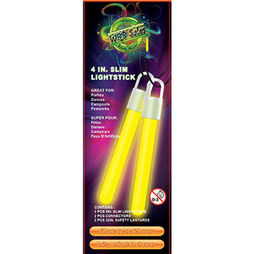 "Yellow Glow Stick 4"" 2 PK"