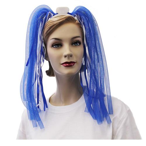 Light Up Hair Noodle Headbands - Blue & White