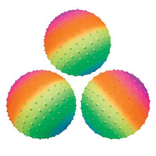 "Inflatable Rainbow Spike Balls - 9"""