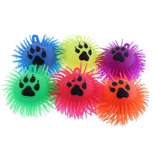 Paw Print Flashing Puffer Balls