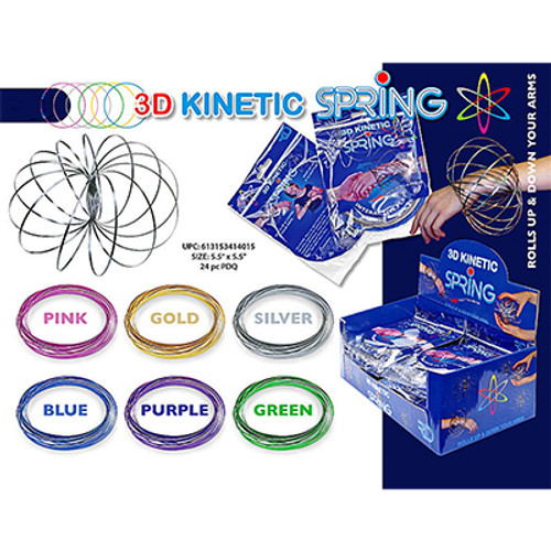3D KINETIC FLOW RINGS METALLIC - ASST COLORS