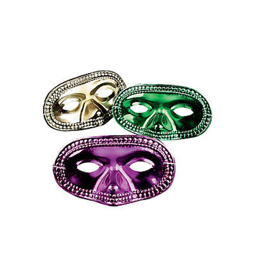 Metallic Mardi Gras Half Masks