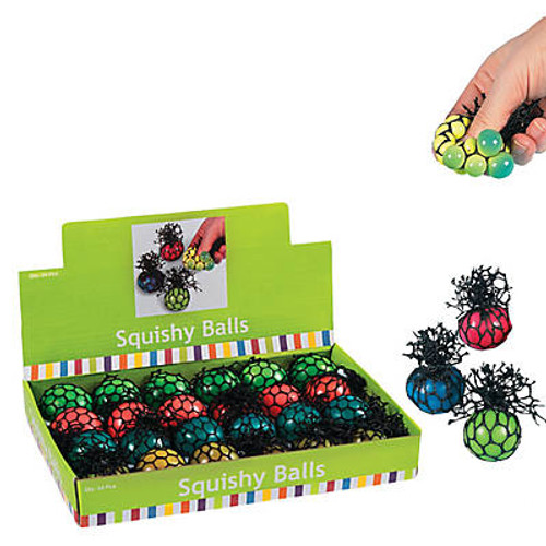 Mesh Color-Changing Mini Squeeze Balls