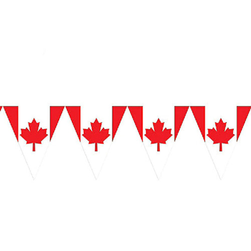 Canada Flag Pennant Banner 12 FT