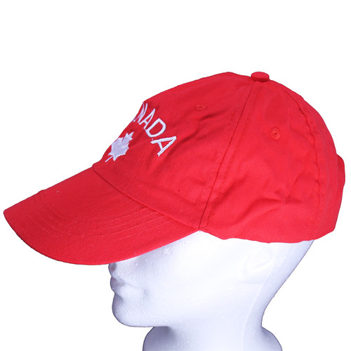 Canada Embroidered Red Baseball Hat