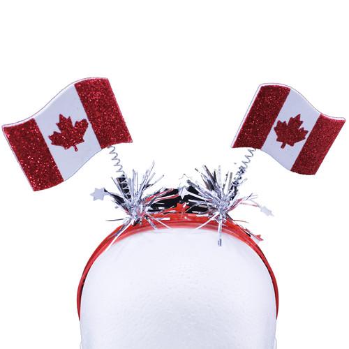 Canada Glitter Flag Head Boppers