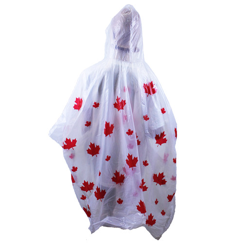 Canada Print Rain Poncho