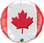 "Maple Leaf  Air Filled Balloon 9"""