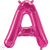 Letter A 16 in - Magenta Foil Balloon