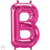 Letter B 16 in - Magenta Foil Balloon