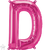 Letter D 16 in - Magenta Foil Balloon