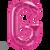 Letter G 16 in - Magenta Foil Balloon