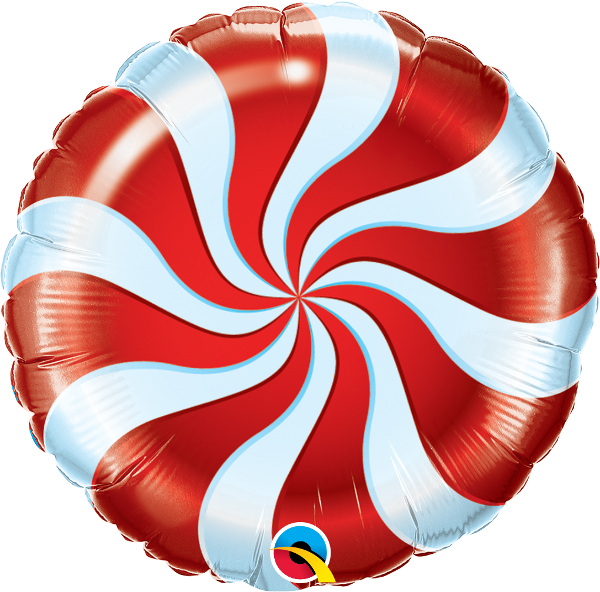 Candy Swirl Red Air Filled 9""