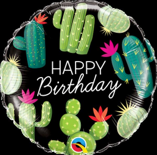 """Birthday Cactuses 18"""" Foil Balloon"""
