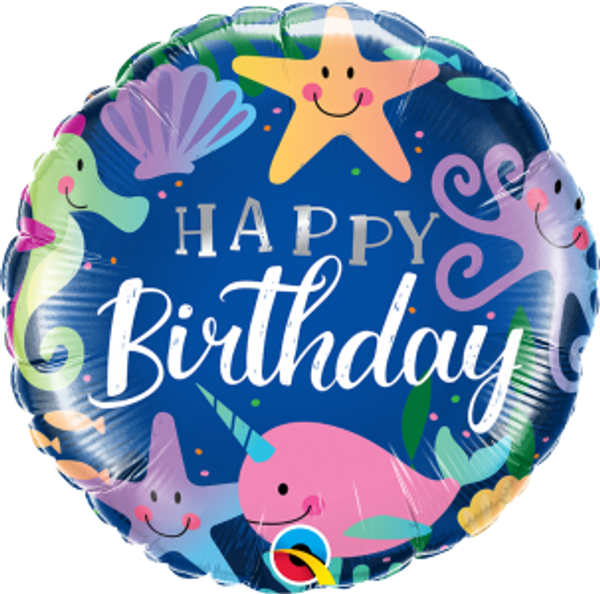 "Birthday Fun Under The Sea 18"" Foil Balloon"