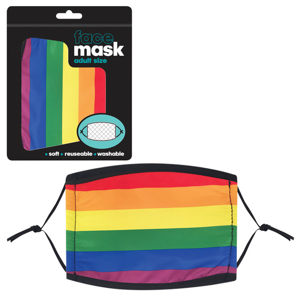Rainbow Adult Face Mask