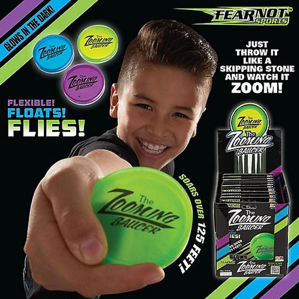 Fear Not Sports™ Glow-in-the-Dark Zooming Saucers