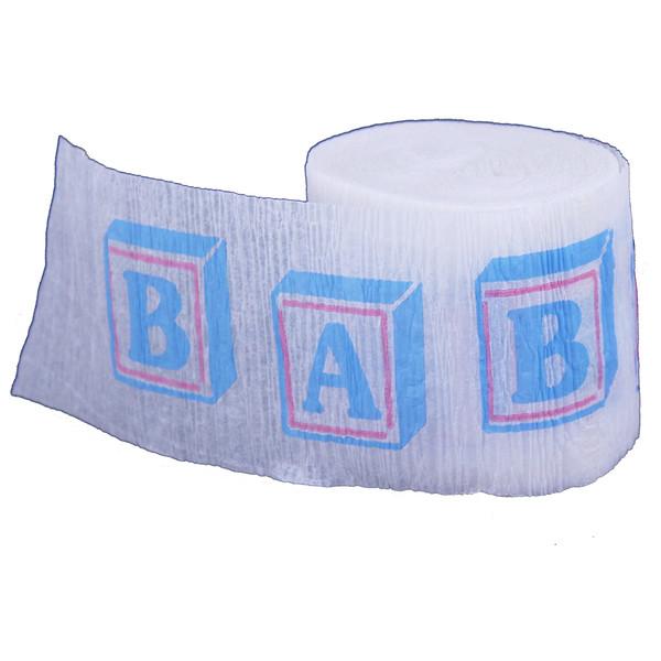 Baby Printed Crepe Streamer - 30 Ft
