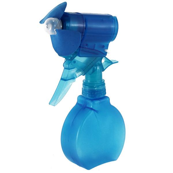 Water Mist Spray Fan Bottle Blue