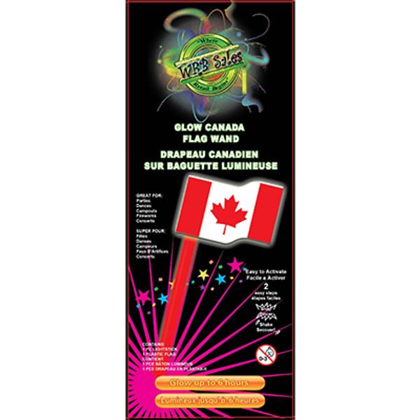 Glow Canada Flag Wand