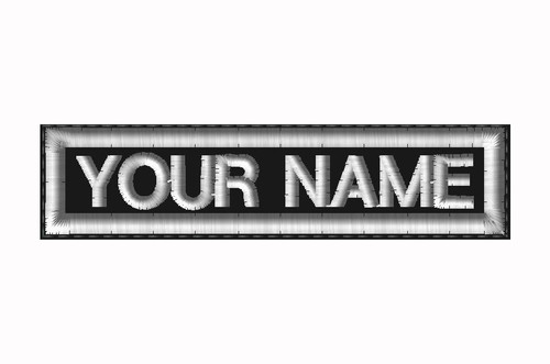 "CREATE YOUR OWN 1""X4"" NAME PATCH WITH BLOCK FONT"