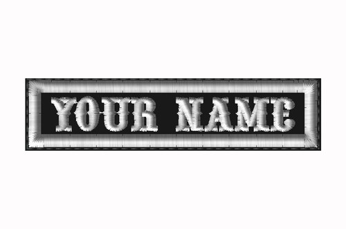 "CREATE YOUR OWN 1""X4"" NAME PATCH WITH BIKER FONT"