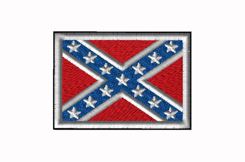CONFEDERATE FLAG SEW ON PATCH