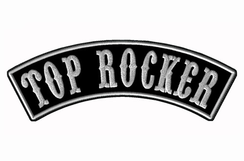 "CREATE YOUR OWN 13"" WIDE TOP ROCKER WITH BIKER FONT"