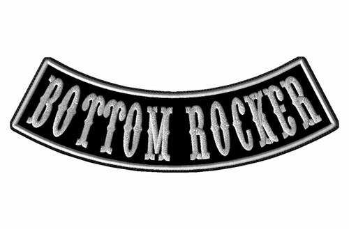 "CREATE YOUR OWN 13"" WIDE BOTTOM ROCKER WITH BIKER FONT"