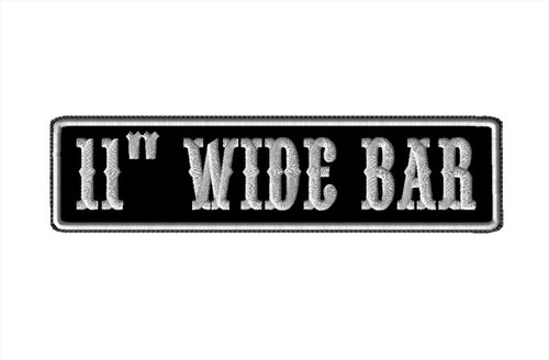 "CREATE YOUR OWN 11"" WIDE BAR PATCH WITH BIKER FONT"