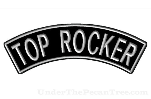 "CREATE YOUR OWN 13"" WIDE TOP ROCKER WITH BLOCK FONT"